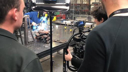 Filming the welding