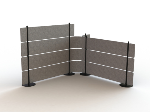 Flexible felt fence