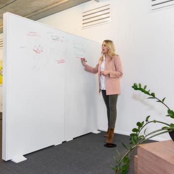 Whiteboard muur
