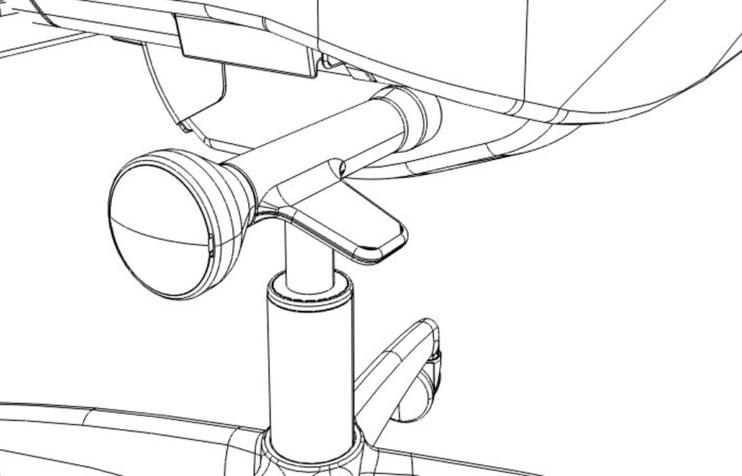 Technische tekening bureaustoel